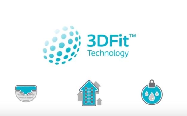 Sehen Sie, wie Biatain Silicone mit 3DFit™ Technologie den Hohlraum schließt und Exsudatansammlungen verhindert.