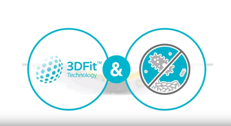 Entdecken Sie<br>Biatain® Silicone Ag mit der 3DFit Technologie