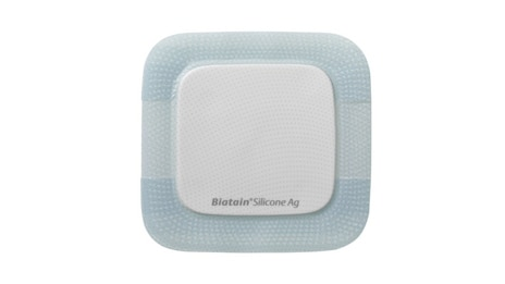 Biatain® Silicone Ag Schaumverband mit Silber / Silikonhaftung